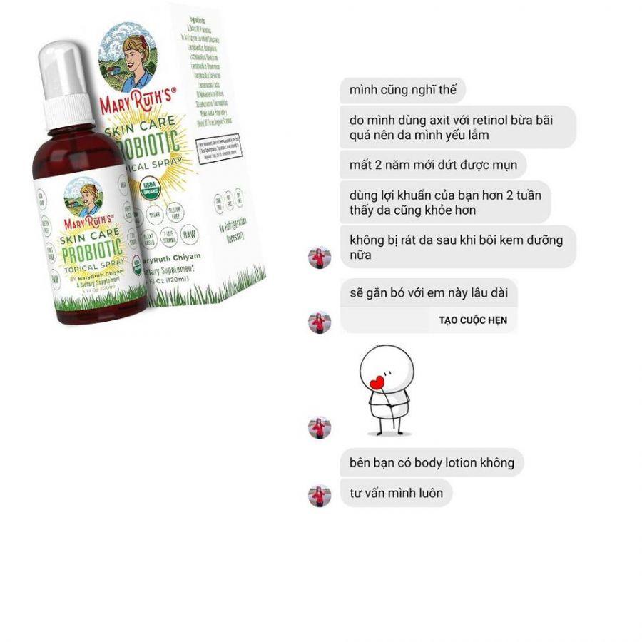 Lợi khuẩn cho da hữu cơ Mary Ruth's Skin Care Topical Probiotic 6