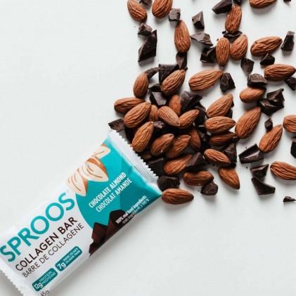 Thanh collagen peptide thủy phân từ cá & chocolate hạnh nhân Sproos Chocolate Almond Collagen Bar 3