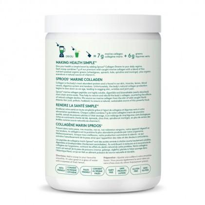 Collagen thủy phân từ cá chứa thêm rau xanh Sproos Collagen Greens 2