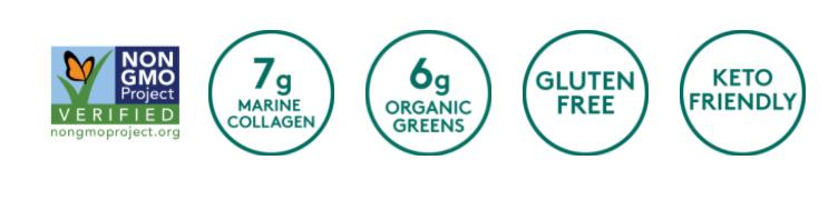 COMBO Bột bổ sung collagen building protein peptides Sunwarrior và Collagen thủy phân từ cá chứa thêm rau xanh Sproos Collagen Greens 3