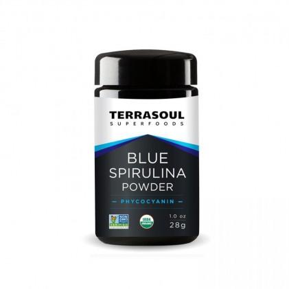 Bột tảo blue spirulina hữu cơ Terrasoul 1