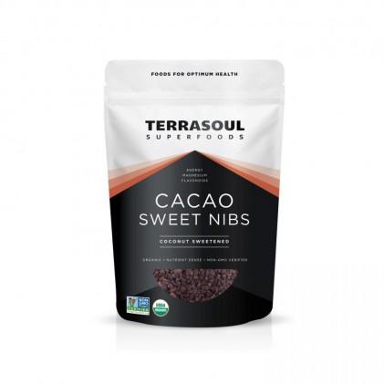 Cacao ngòi hữu cơ phủ hoa mật dừa Terrasoul CaCao Sweet Nibs 1