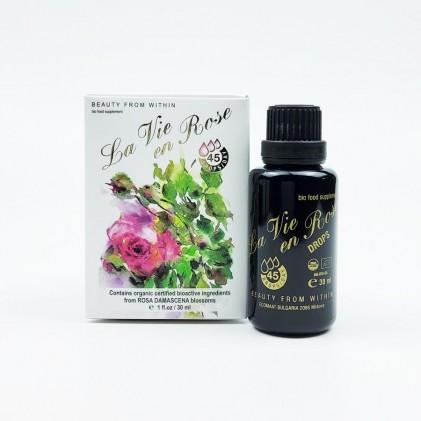 Nước uống hoa hồng hữu cơ La Vie en Rose Drops Ecomaat 4