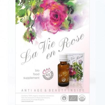 Nước uống hoa hồng hữu cơ La Vie en Rose Drops Ecomaat 2