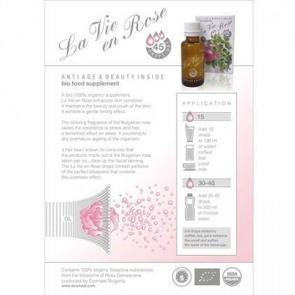 Nước uống hoa hồng hữu cơ La Vie en Rose Drops Ecomaat 3