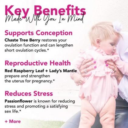 Trà tăng cường chức năng sinh sản hữu cơ Pink Stork Fertility Tea (30 cốc) 2