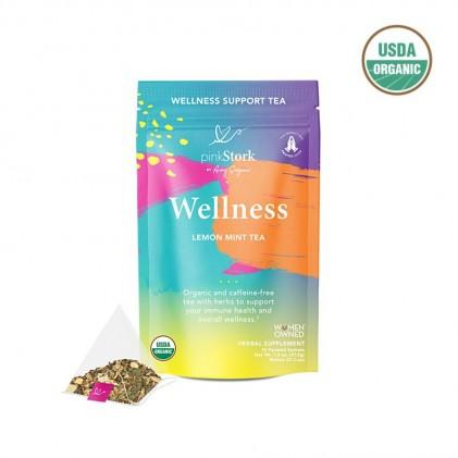 Trà tăng cường miễn dịch & sức khỏe tổng quan hữu cơ Pink Stork Wellness Tea (30 cốc) 1