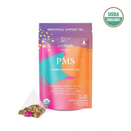 Trà giúp giảm đau trước kỳ kinh nguyệt & hỗ trợ chu kỳ kinh khỏe mạnh hữu cơ Pink Stork PMS Tea (30 cốc) 1