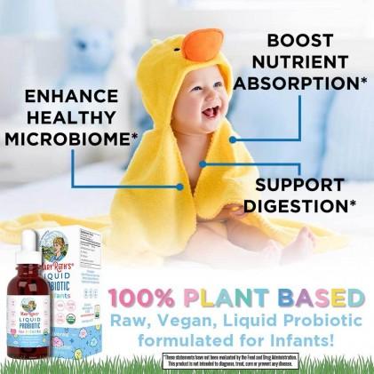 Dung dịch lợi khuẩn hữu cơ cho bé sơ sinh 0-1 tuổi Mary Ruth's Liquid Probiotic for Infants 3
