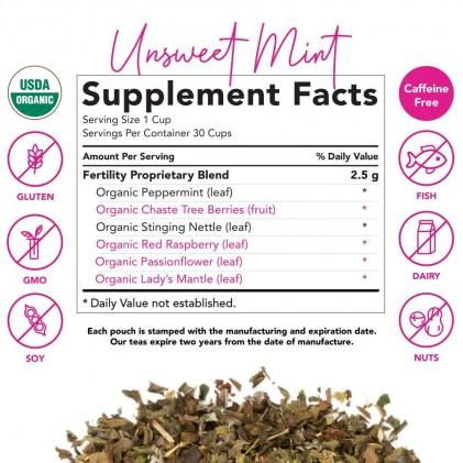 Trà tăng cường chức năng sinh sản hữu cơ Pink Stork Fertility Tea (30 cốc) 3