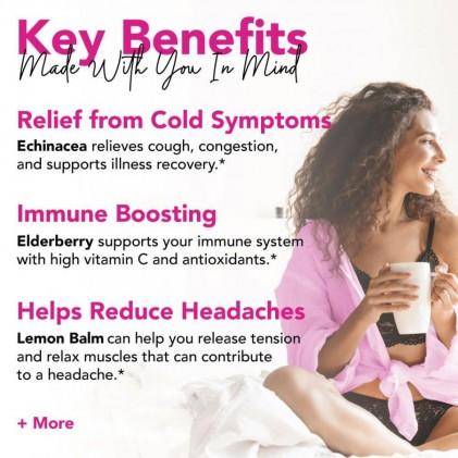 Trà tăng cường miễn dịch & sức khỏe tổng quan hữu cơ Pink Stork Wellness Tea (30 cốc) 2
