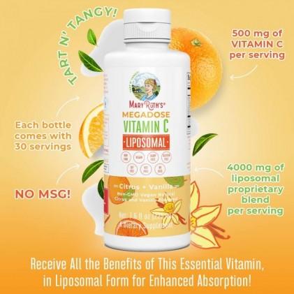 Liều cao vitamin C Mary Ruth's Megadose Vitamin C Liposomal 3