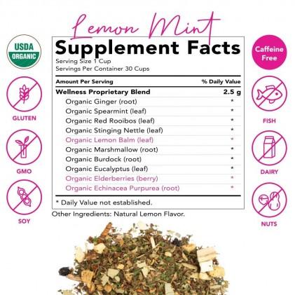 Trà tăng cường miễn dịch & sức khỏe tổng quan hữu cơ Pink Stork Wellness Tea (30 cốc) 3