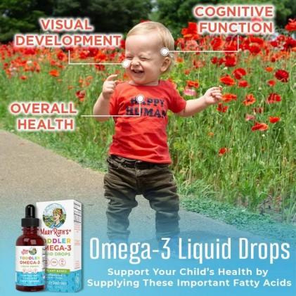 Omega 3 thuần chay từ tảo cho bé sơ sinh & trẻ em 0-3 tuổi Mary Ruth's Infant & Toddler Omega-3 Liquid Drops 4
