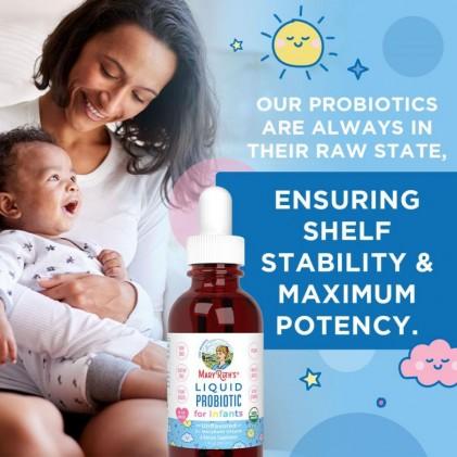 Dung dịch lợi khuẩn hữu cơ cho bé sơ sinh 0-1 tuổi Mary Ruth's Liquid Probiotic for Infants 5