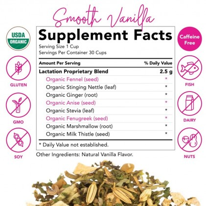 Trà lợi sữa hữu cơ Pink Stork Lactation Tea (30 cốc) 3