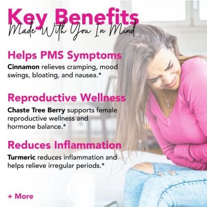 Trà giúp giảm đau trước kỳ kinh nguyệt & hỗ trợ chu kỳ kinh khỏe mạnh hữu cơ Pink Stork PMS Tea (30 cốc) 2