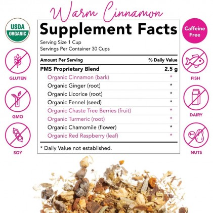 Trà giúp giảm đau trước kỳ kinh nguyệt & hỗ trợ chu kỳ kinh khỏe mạnh hữu cơ Pink Stork PMS Tea (30 cốc) 3