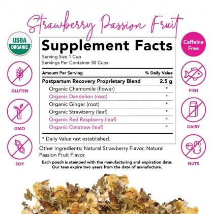 Trà phục hồi cơ thể sau sinh hữu cơ Pink Stork Postpartum Recovery Tea (30 cốc) 3