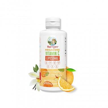 COMBO Liều cao vitamin C Mary Ruth's Megadose Vitamin C Liposomal & Nước uống hoa hồng La Vie en Rose Drops Ecomaats 2