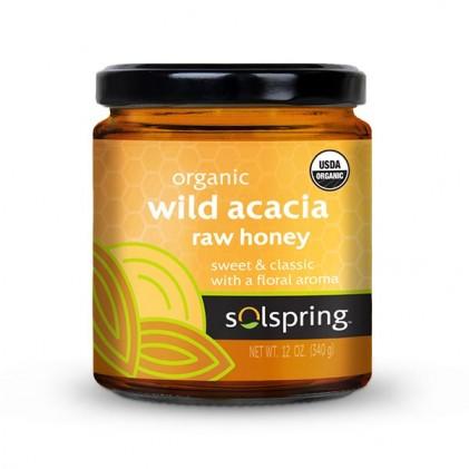 Mật ong rừng hữu cơ Dr Mercola Solspring® Organic Wild Acacia Raw Honey 1