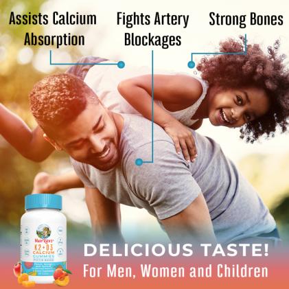 Viên kẹo nhai bổ sung vitamin D3, K2 và canxi Mary Ruth's 4