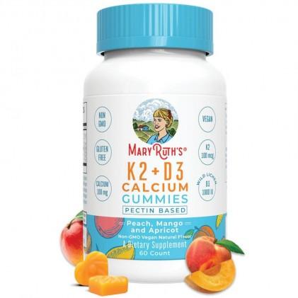 Viên kẹo nhai bổ sung vitamin D3, K2 và canxi Mary Ruth's 1