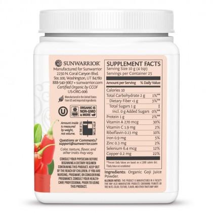 Bột nước ép kỳ tử hữu cơ Sunwarrior Organic Goji Berry Juice Powder 2