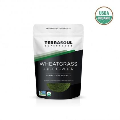 Bột nước ép cỏ lúa mì hữu cơ Terrasoul WHEATGRASS JUICE POWDER 1