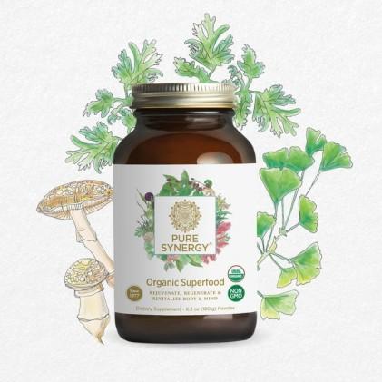 Hỗn hợp bột 60+ loại siêu thực phẩm PURE SYNERGY® SUPERFOOD Powder 180g 3