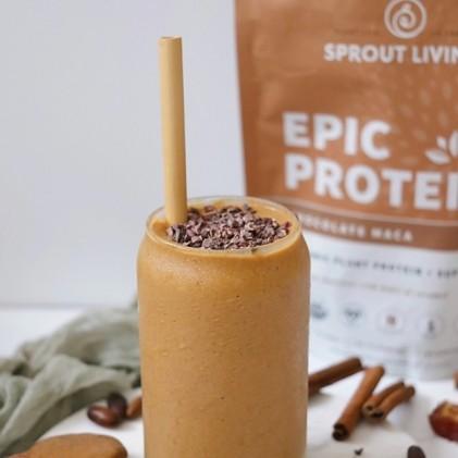 Protein thực vật & siêu thực phẩm Sprout Living, Epic Protein, Organic Plant Protein, Chocolate Maca 5