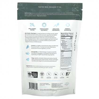 Protein cho người tập thể thao & siêu thực phẩm Sprout Living Premium Superfood Protein, Real Sport 2