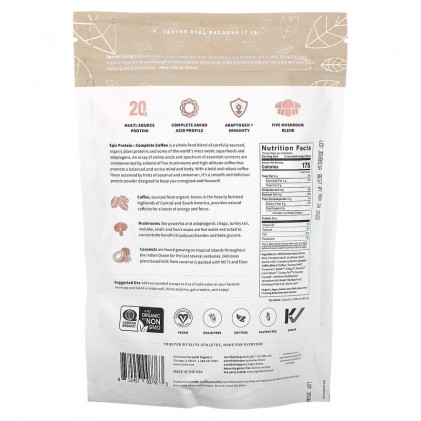 Protein thực vật & siêu thực phẩm Sprout Living Premium Superfood Protein, Complete Coffee 2