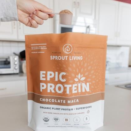 Protein thực vật & siêu thực phẩm Sprout Living, Epic Protein, Organic Plant Protein, Chocolate Maca 4