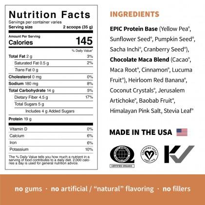 Protein thực vật & siêu thực phẩm Sprout Living, Epic Protein, Organic Plant Protein, Chocolate Maca 2