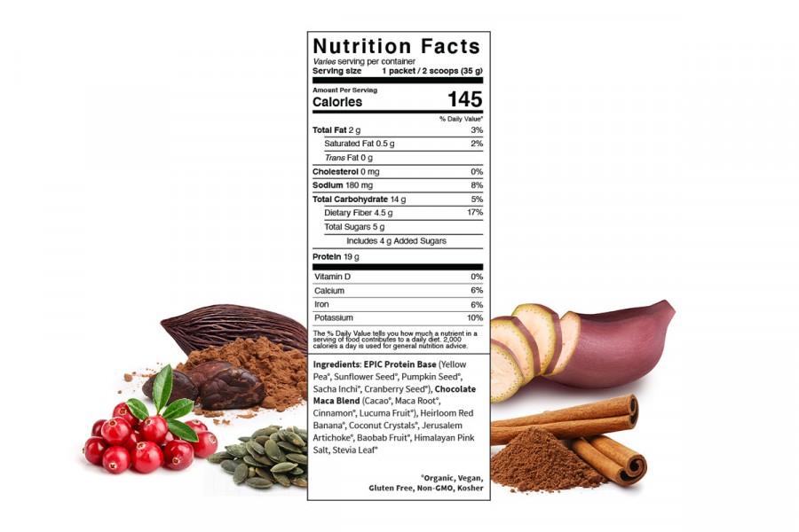 Protein thực vật & siêu thực phẩm Sprout Living, Epic Protein, Organic Plant Protein, Chocolate Maca 6