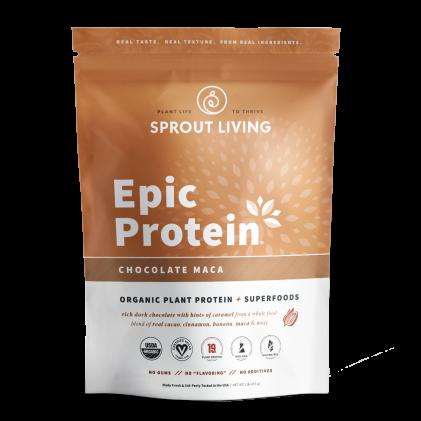 Protein thực vật & siêu thực phẩm Sprout Living, Epic Protein, Organic Plant Protein, Chocolate Maca 1