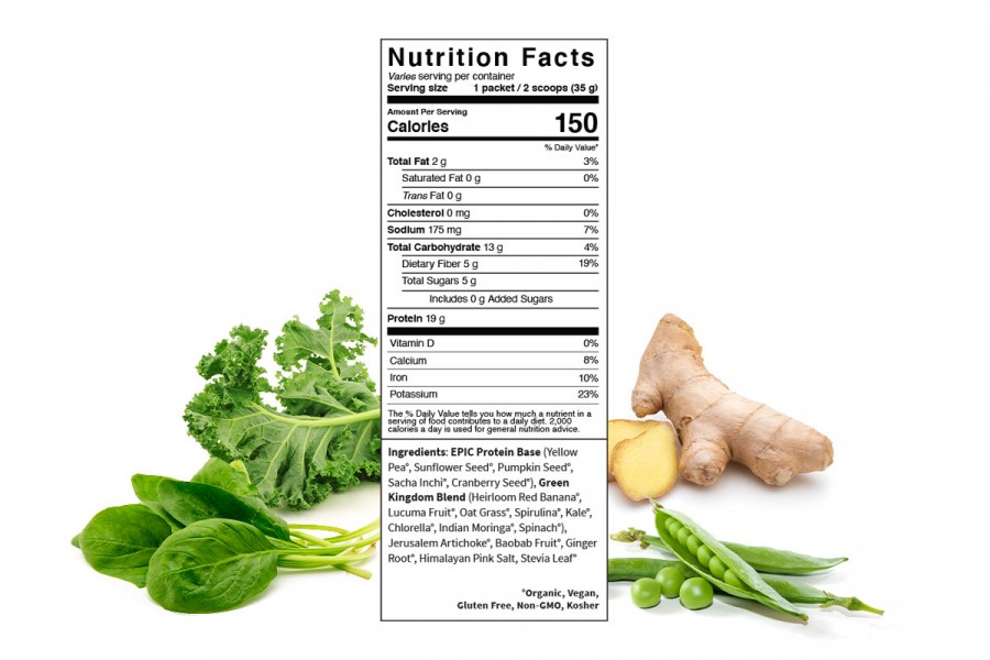 Protein thực vật & siêu thực phẩm Sprout Living, Epic Protein, Organic Plant Protein, Green Kingdom 5