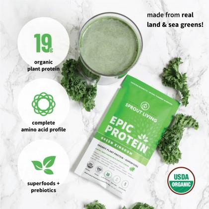 Protein thực vật & siêu thực phẩm Sprout Living, Epic Protein, Organic Plant Protein, Green Kingdom 3