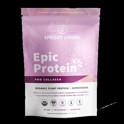 Pro Collagen & siêu thực phẩm Sprout Living Premium Superfood Protein 1