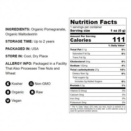 Bột lựu hữu cơ Food to Live Organic Pomegranate Powder 1lb (454g) 3