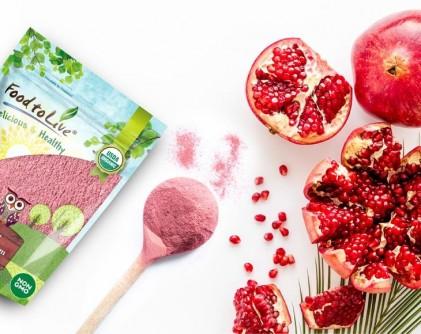 Bột lựu hữu cơ Food to Live Organic Pomegranate Powder 1lb (454g) 5