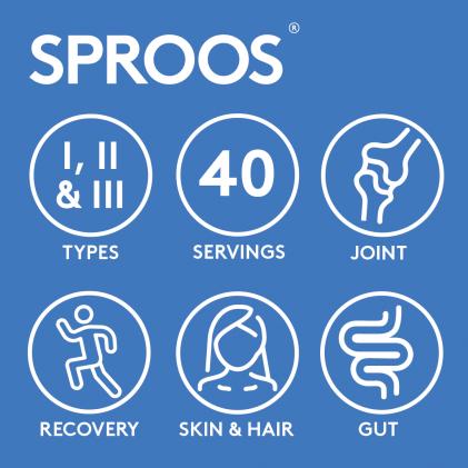 Collagen thủy phân cho da, tóc, móng, khớp, đường ruột & khả năng phục hồi Sproos Performance Multi-Collagen 4
