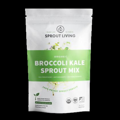 Hỗn hợp bột bông cải xanh nảy mầm & cải xoăn nảy mầm hữu cơ Sprout Living Broccoli & Kale 1